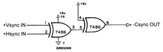 Early Series Defender Comosite Sync Circuit